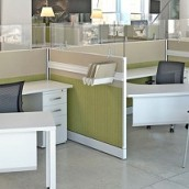 Novo Green Glass Cubicles