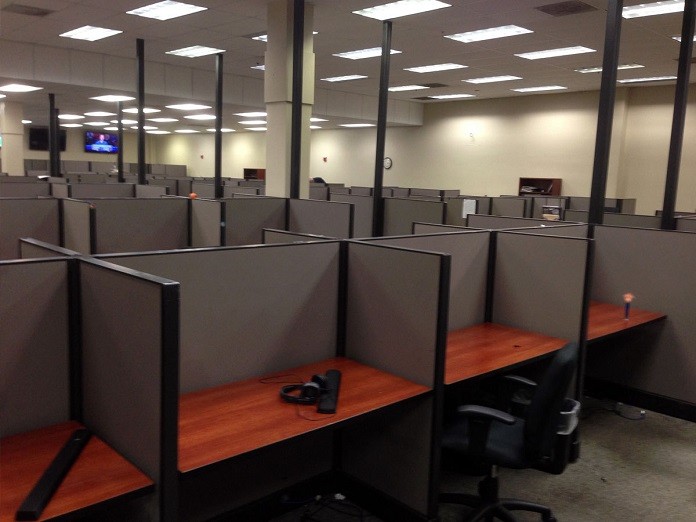 telemarketing cubicles
