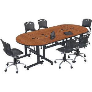height-adjustable-folding-conference-table