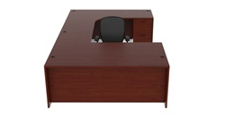 Cherryman Amber Collection U-Desk Configuration AM-353R