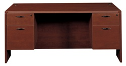 Cherryman Amber Collection Double Pedestal Office Desk AM-371N (3 Sizes Available!)