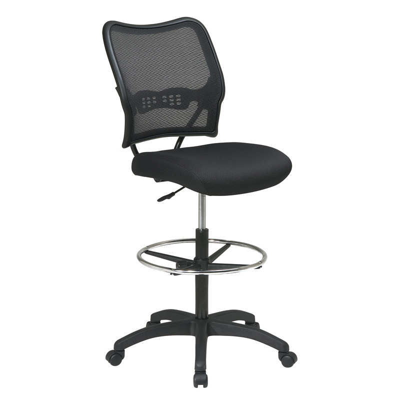 13-37N20D Deluxe Air Grid Back Drafting Chair with Black Mesh Seat