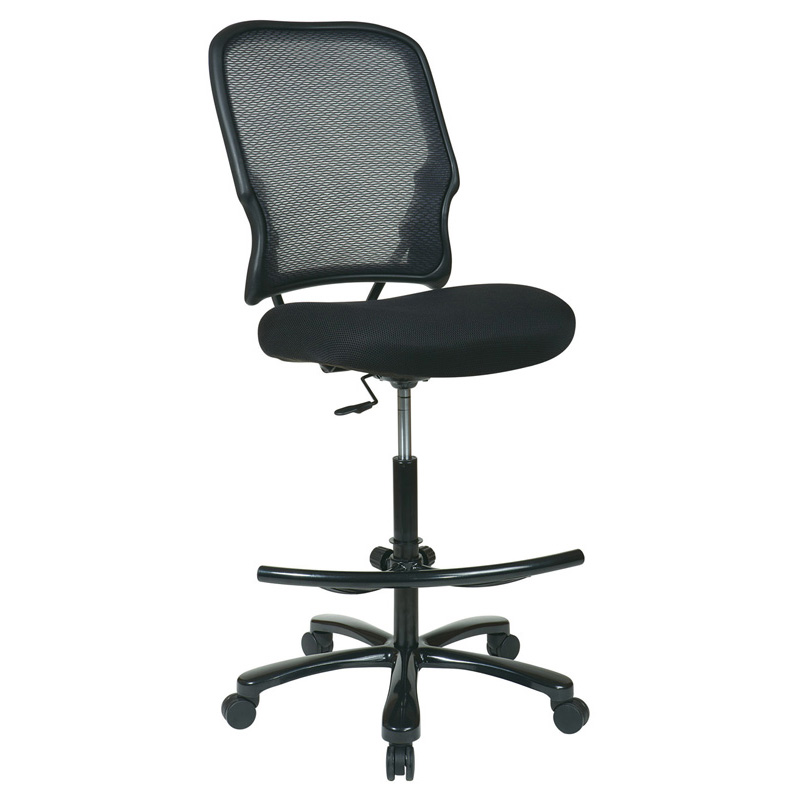 15-37A720D Double Air Grid Back Drafting Chair with Black Mesh Seat