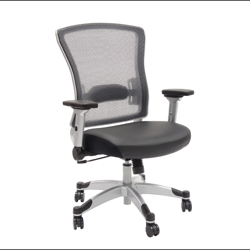 317-ME36C61F6 – Space Task Chair, Light Air Grid Back and Eco Leather Seat
