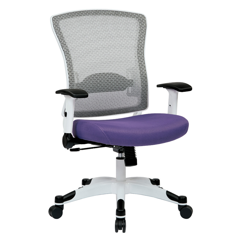 317W-W1C1F2W Space Task Chair, White Coated Base