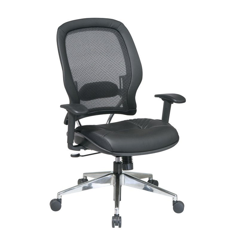 335-E37P918P Professional Air Grid Back Chair with Eco Leather Seat