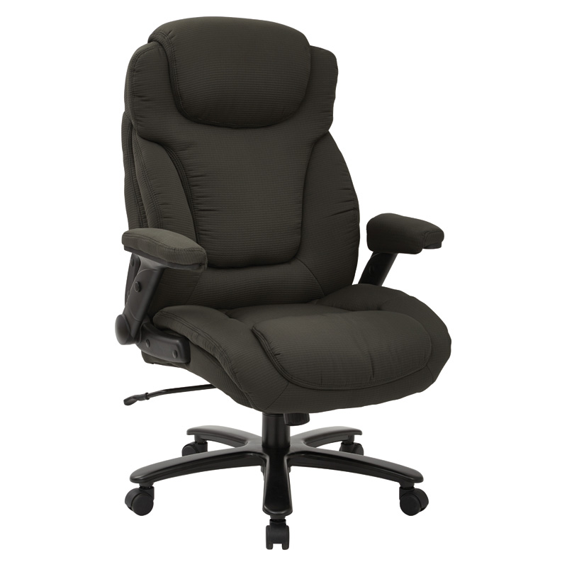 39202 Big & Tall Deluxe Charcoal Fabric Executive Chair