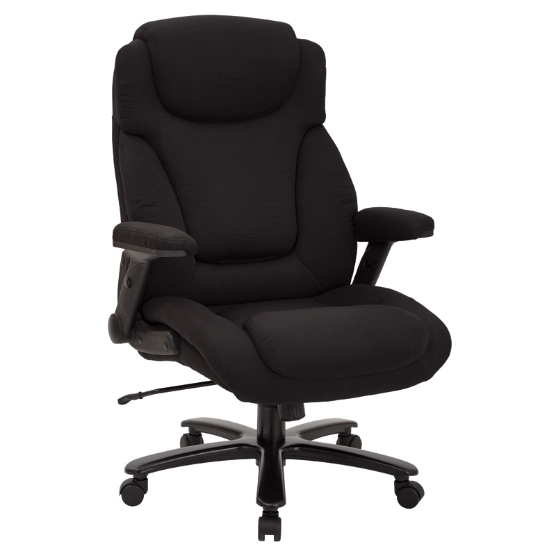 39203 Big & Tall Deluxe Black Fabric Executive Chair