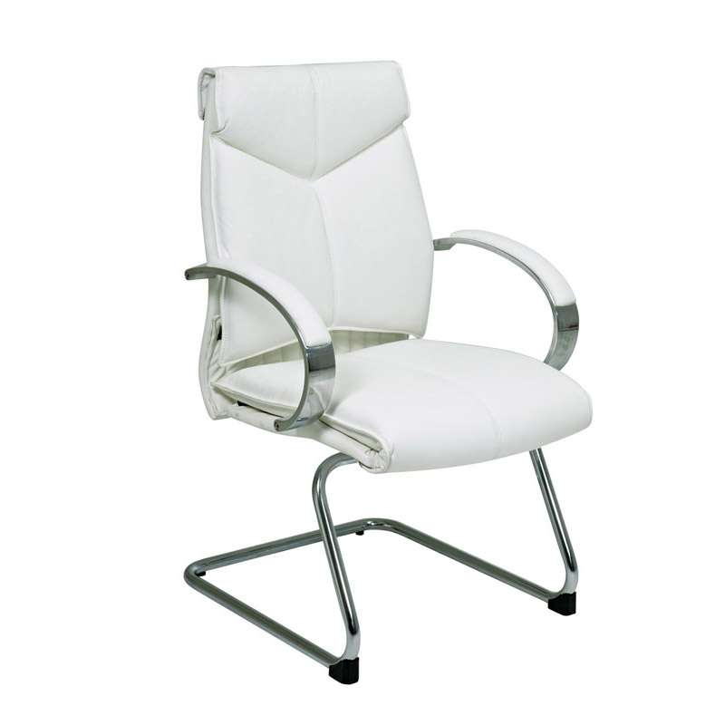 7275 Deluxe Mid-Back Executive Leather Visitors Chair with Chrome Finish Base