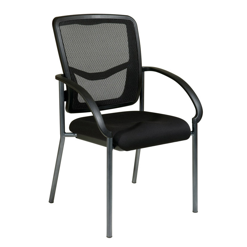 85670-30 ProGrid Back Visitors Chair with Arms and Titanium Finish