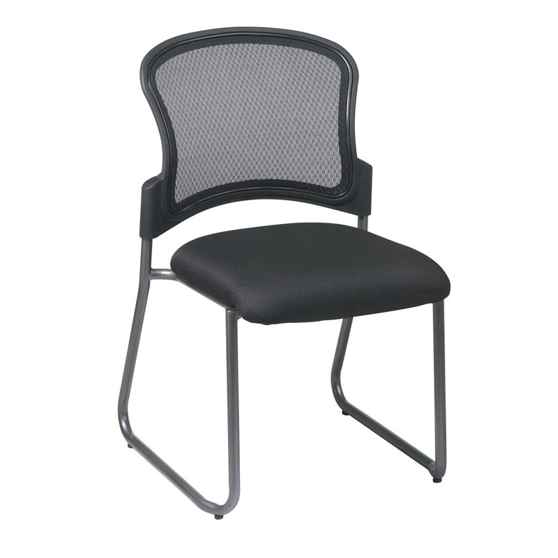 86725-30 ProGrid Back Visitors Chair with Titanium Finish