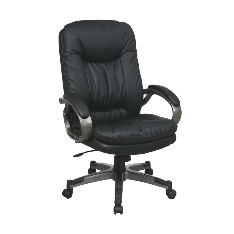 ECH83507-EC3 Executive Eco Leather Chair with LockingTilt Control and Coated Base