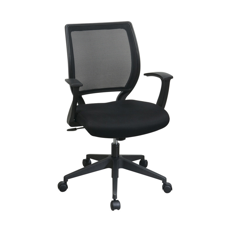 EM51022N-3 Screen Back Chair with Mesh Seat and Fixed Designer Arms