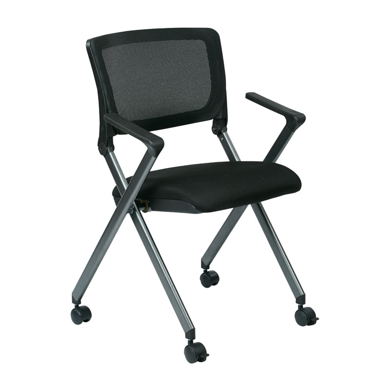 FC8487-231 Flex Back Nesting Chair with Arms