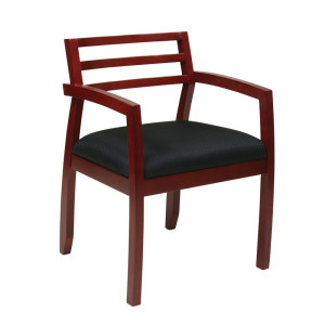 GI-100 Wood Guest Chair with Horizontal Slat Back
