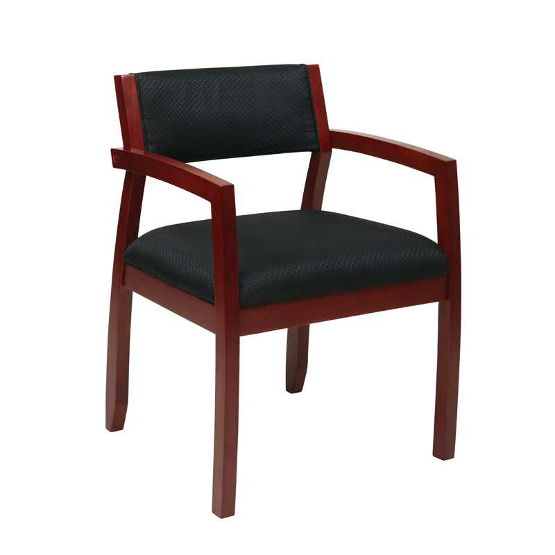 GI-125 Wood Guest Chair with Padded Back