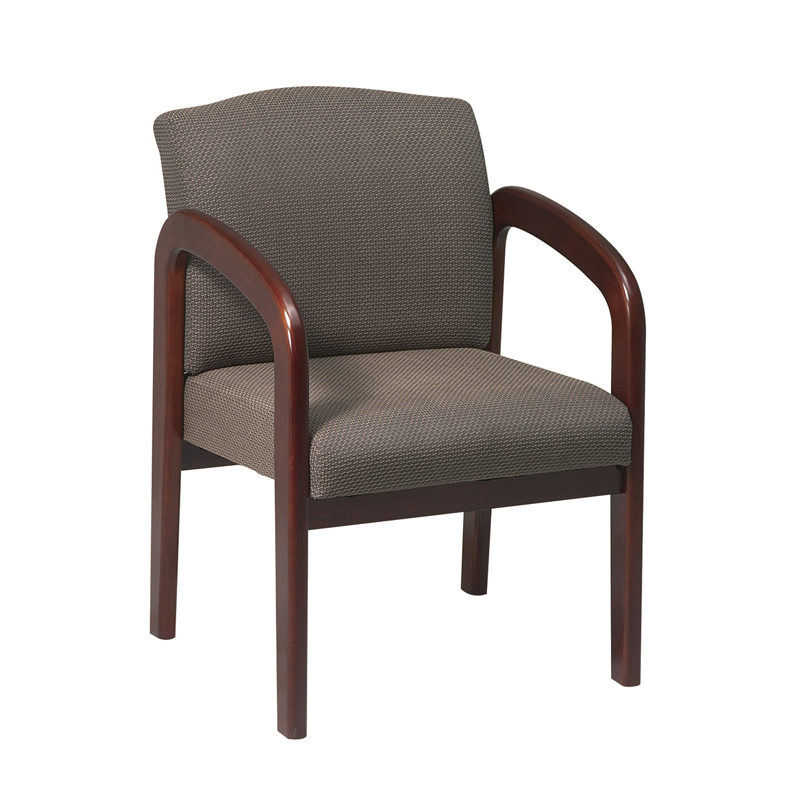 GI-300 Wood Guest Chair with Full Padded Back