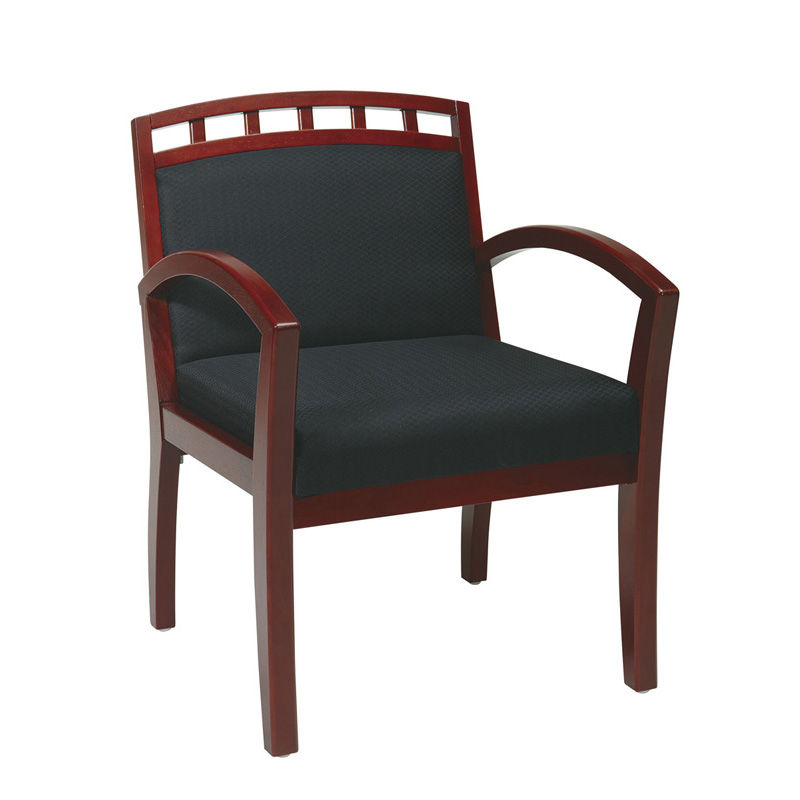 GI-400 Wood Guest Chair with Crown Back