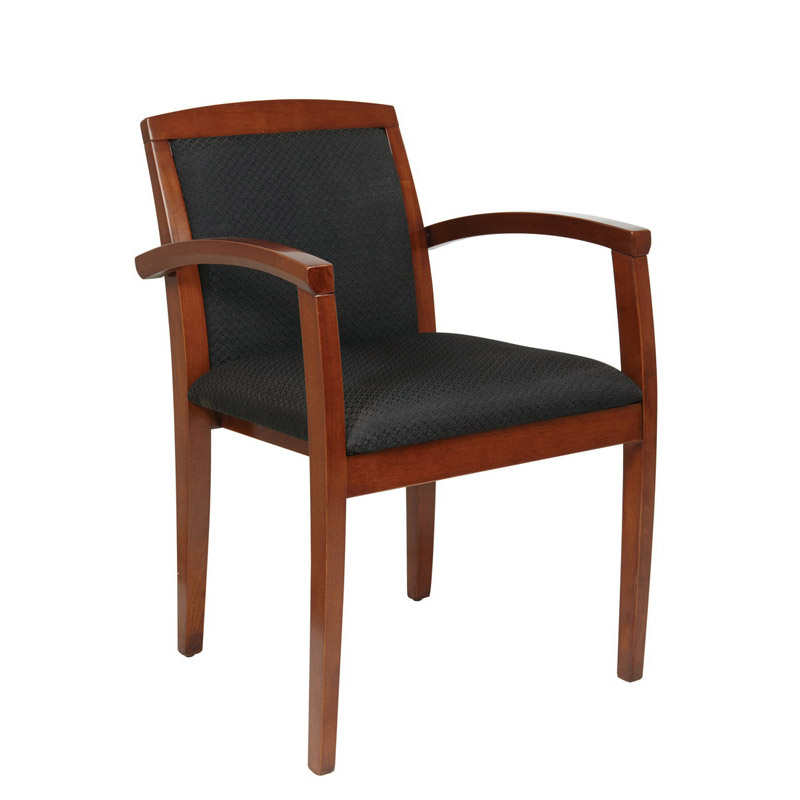 K-129 Wood Guest Chair with Full Padded Back