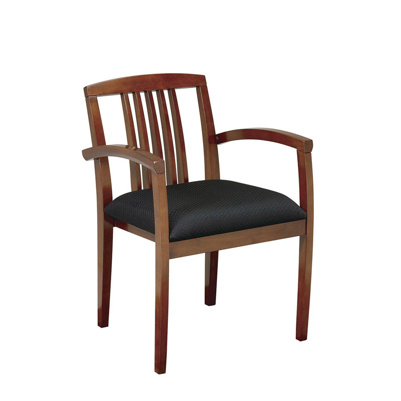 K-99 Wood Guest Chair with Vertical Slat Back