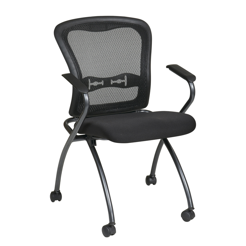 NI-1000-30 ProGrid Back Nesting Chair with Arms