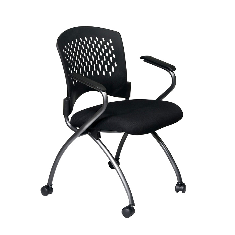 NI-2000-30 Plastic Back Nesting Chair with Arms