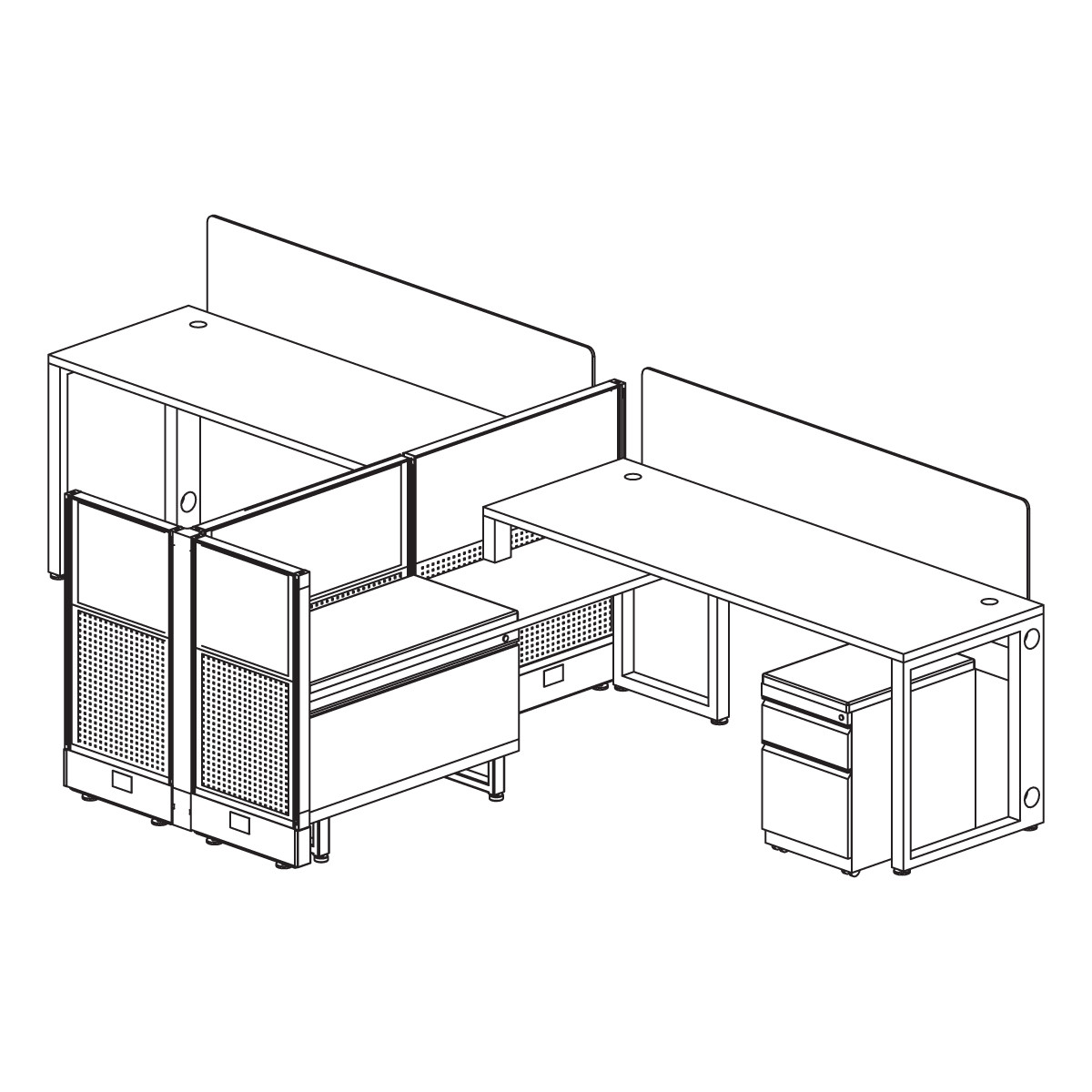 CITYP14 2-Pod Workstation