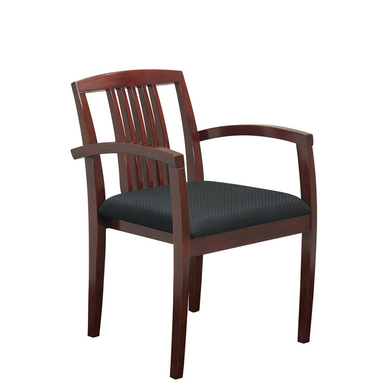 S-99-CHY Wood Guest Chair with Vertical Slat Back