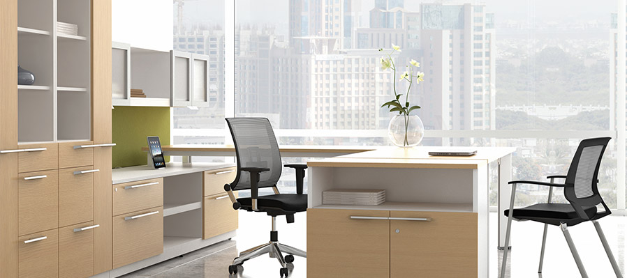 Modern desking built for systems integration