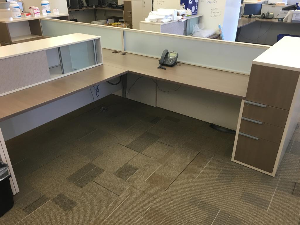 7×8.5 Teknion benching cubicle stations