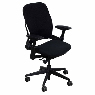 Black Pre-owned Steelcase V2 Leap Chair