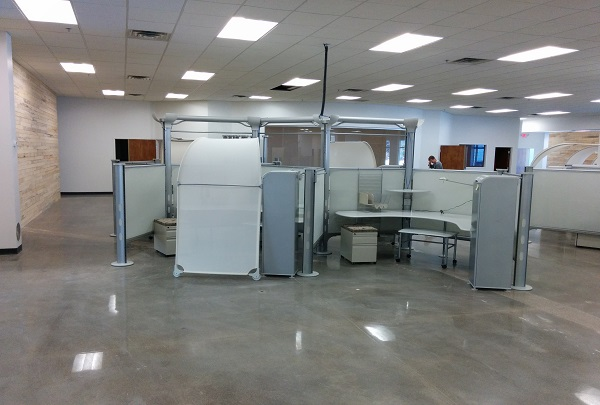 Pole Based Cubicles : Used office furniture houston tx clear choice
