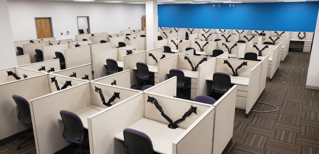 Pre-owned call center cubicles