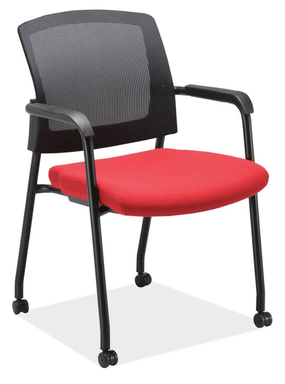Red Micro Side Chair with Casters